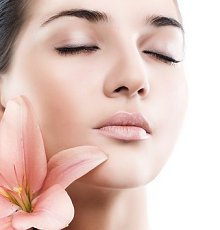 Aromatherapy facials. Library Image: Face and Flower